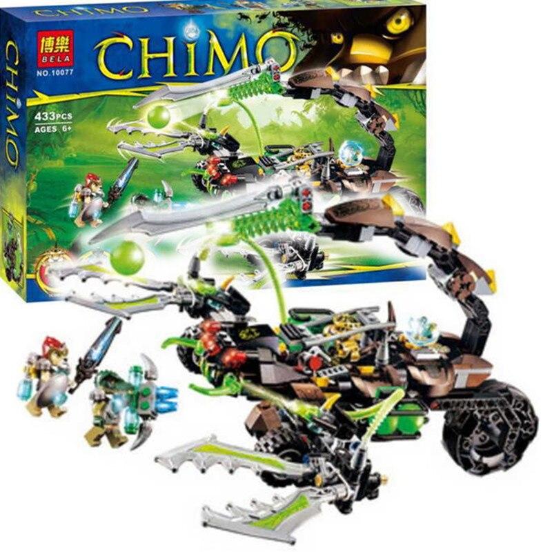 10077 Bela Chimaed Scorms Scorpion Stinger Building Block set Laval Cragger figureblock Kids Toys Compatible with Leg<br><br>Aliexpress