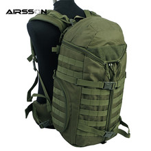 Airsoft Tactical 600D Cordura Molle Extended Range Big Capacity Army Hiking Camping Bag Military Outdoor Backpack Men Black/OD
