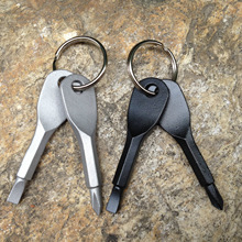 Supply of outdoor EDC portable multi tool keychain cross Screwdriver slotted screwdriver key ring Outdoor Travel Product tool(China)