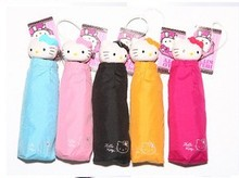 (6 Pcs/Lot) You Can Choose 5 Colors Five-Folidings Sun & UV Protection Hello Kitty Umbrella Rain Women(China)