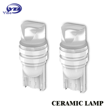2X Heat durable W5W T10 3D LED 20MA Ceramic lens White Red Blue Yellow LED 194 168 Wedge Side License Plate Light Lamp DC 12V
