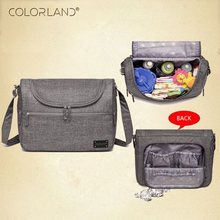 Colorland Brand Baby Bags Messenger Large Diaper Bag Organizer Design Nappy Bags For Mom Fashion Mother Maternity Bag Stroller(China)