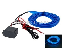 2.3 mm X 2M EL Cold Light Wire for Car Compartment Outline Flexible Neon Light Car Decorate (Blue)