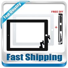 For New iPad2 A1395 A1396 A1397 Replacement Touch Screen Digitizer Glass without Home Button White Black Free Shipping
