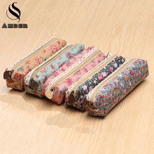 Kawaii Mini Lace Fringe Little Flowers Multi-function Zipper Pencil Bag Case Storage Bag Gift Stationery School Supplies BD838