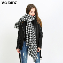 Vomint 2017 New Women Pashmina Classic Plain New Fashion Thicken Scarf Double Width Black Red Color Autumn and Winter Female(China)