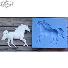 Yueyue Sugarcraft Horse Silicone mold fondant mold cake decorating tools chocolate gumpaste mold