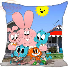 Fashion Custom Pillow Case pierce The Amazing World of Gumball Pillowcases zipper
