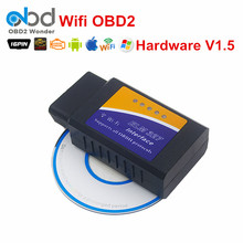 Newly OBD2 Auto Car Diagnostic Interface Wifi ELM327 V1.5 Code Reader ELM 327 Wireless WiFi For Android/iOS/Windows