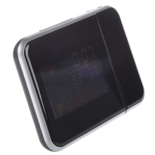 "3.7"" Digital LCD Screen LED Backlight Projector Snooze Alarm Clock Weather Station"