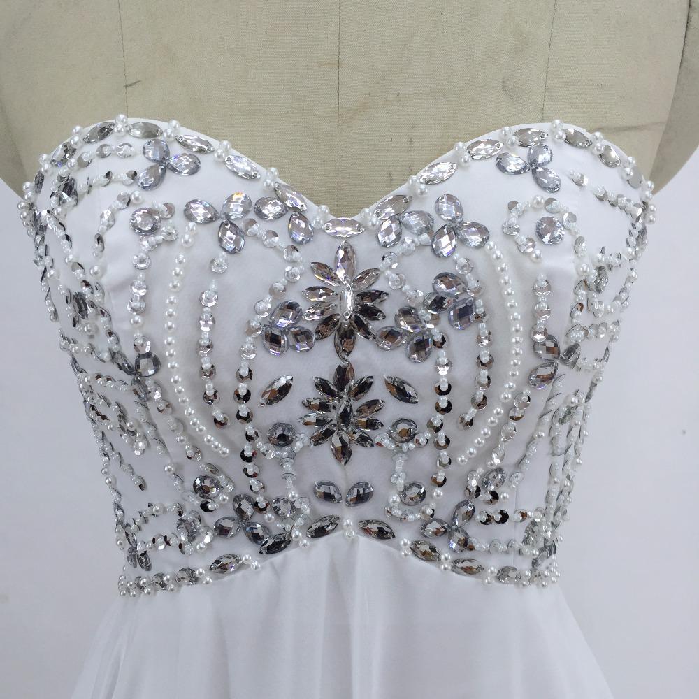 Sexy Chiffon A Line Beach Wedding Dresses Vintage Boho Cheap Bridal Gowns Vestidos De Novia Robe De Mariage Bridal Gown in stock 4