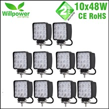 10 PCS IP67 waterproof Spot Beam Flood beam 4x4 Offroad boat LED Driving Light truck led work light 48w(China)