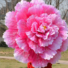 70cm Retro Chinese Peony Flower Umbrella Props Dance Performance Props Wedding Decoration Photograph Fancy Dress Umbrella(China)