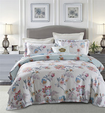 IvaRose Tencel flowers bedding set Bed Linen Luxury bedclothes double size bed cover Doona duvet cover sheet