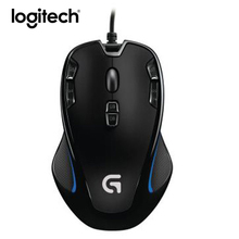 Logitech G300s Gaming Mouse 2500DPI Ergonomic Wired Optical Computer Games Mouse For PC Laptop(China)
