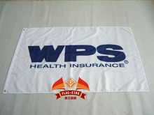 WPS health insurance  logo flag,  90*150CM 100% polyester WPS health insurance banner