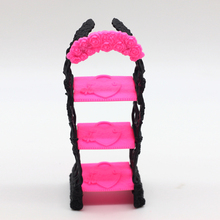 1pcs Shoes Rack Furniture For Barbie Doll Storage Racks For Monster High Dolls Kids toys