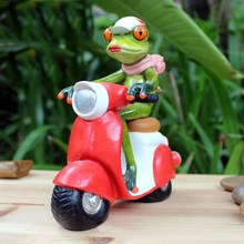 The new home crafts motorcycle frog ornaments fashion creative resin gifts(China)