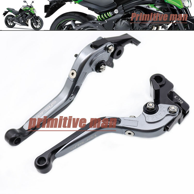 For KAWASAKI KLE 650 KLE650 Versys 2006-2008 Motorcycle Adjustable Folding Extendable Brake Clutch Levers Gray<br><br>Aliexpress