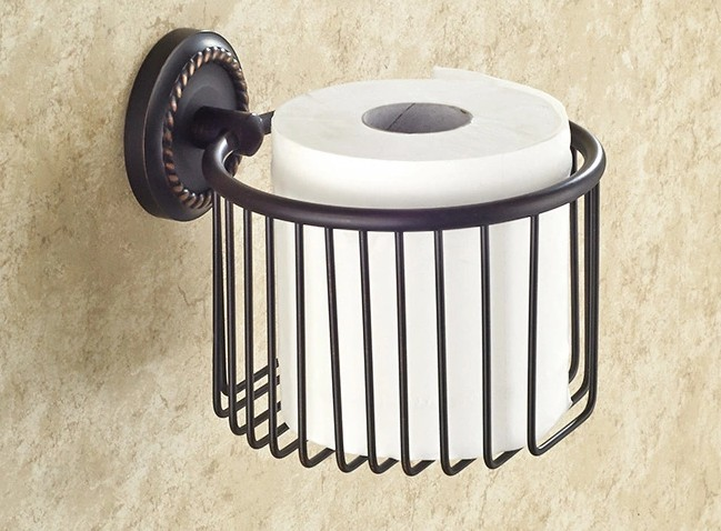 Black Oil Rubbed Brass Wall Mounted Bathroom Toilet Paper Roll Holders Cba217<br>