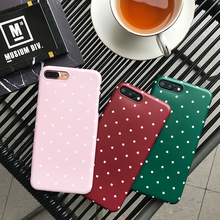 Buy Glossy polka dots phone Cases iphone 7 7plus 8 8plus Soft silicon case iphone 6 6s 6plus 6splus phone back cover for $3.99 in AliExpress store