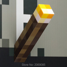 Minecraft  Light Up Popular Game Torch Night Light Led PVC Jouet Toys #1177 Action Figure Toy Kids Gift