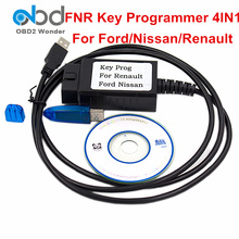 2017 New Arrival FNR Auto Key Programmer 4 In 1 For Ford For Nissan For Renault OBD2 OBDII Key Programmer 4-in-1 With Dongle(China)