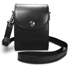 Leather Compact Case with Magnetic Closure and Strap Compatible Shoot Digital Camera