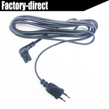 Angled 5M Europe EU power cable cord EU 2-pin AC plug to angled figure 8 C7 plug 3M 1.5M for PS4,TV,DVD etc.(China)