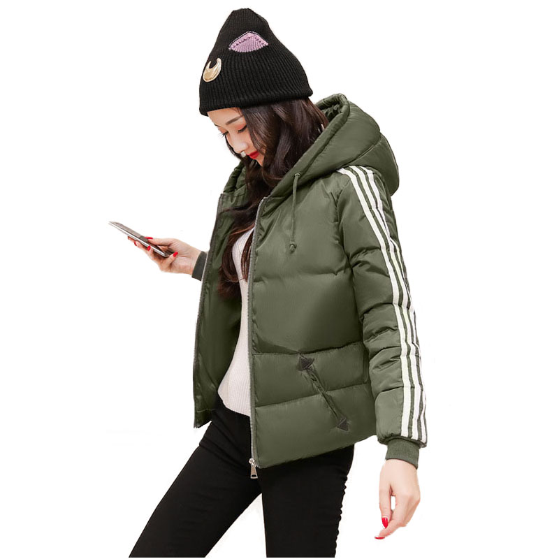 Sportwear Parka Jacket Winter Women Hooded Long Sleeve Warm Cotton Wadded Coat New Womens Short Winter Coat Quilted JacketsÎäåæäà è àêñåññóàðû<br><br>