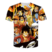 Newest Cool Anime t shirts One Piece Characters Prints tshirts Men Women Hipster Monkey D. Luffy 3D t shirt Harajuku Tee Shirts