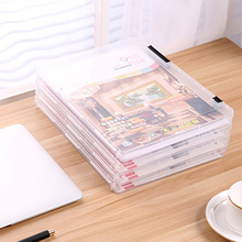 Transparent A4 Paper Office File Document Storage Box Case Desk Organizer Holder MAYITR 30.7 x 23.2 x 2cm 3 colors(China)