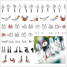 1 sheet so cute nail water transfer decals nail art stiker DIY nail decoration(China)