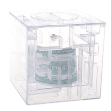 Maze money Bank 3D Puzzle Box Piggy bank currency(China)
