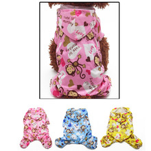 Cute Cartoon Monkey Hoodie Waterproof Raincoat Small Dog Clothes Dog Legs Poncho Pet Jumpsuit Raincoat FG