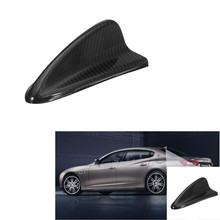 Carbon Fiber Shark Fin Top Roof Antenna Base FM For BMW E90 E92 E46 E60 E39 Rear 16.3 cm x 8.3 cm x 5.8 cm(China)