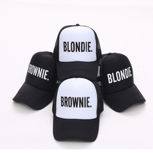 BLONDIE BROWNIE Print Trucker Baseball caps Polyester Women Gift For Her High Quality Cap Flat Bill Hip-Hop Snapback Hat Gorras