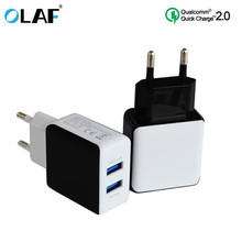 Buy OLAF QC 2.0 Dual USB Phone Charger, 5 V 2 ports Quick Charge 2.0 Universal Fast Wall USB Charger Iphone mobile charger for $3.39 in AliExpress store