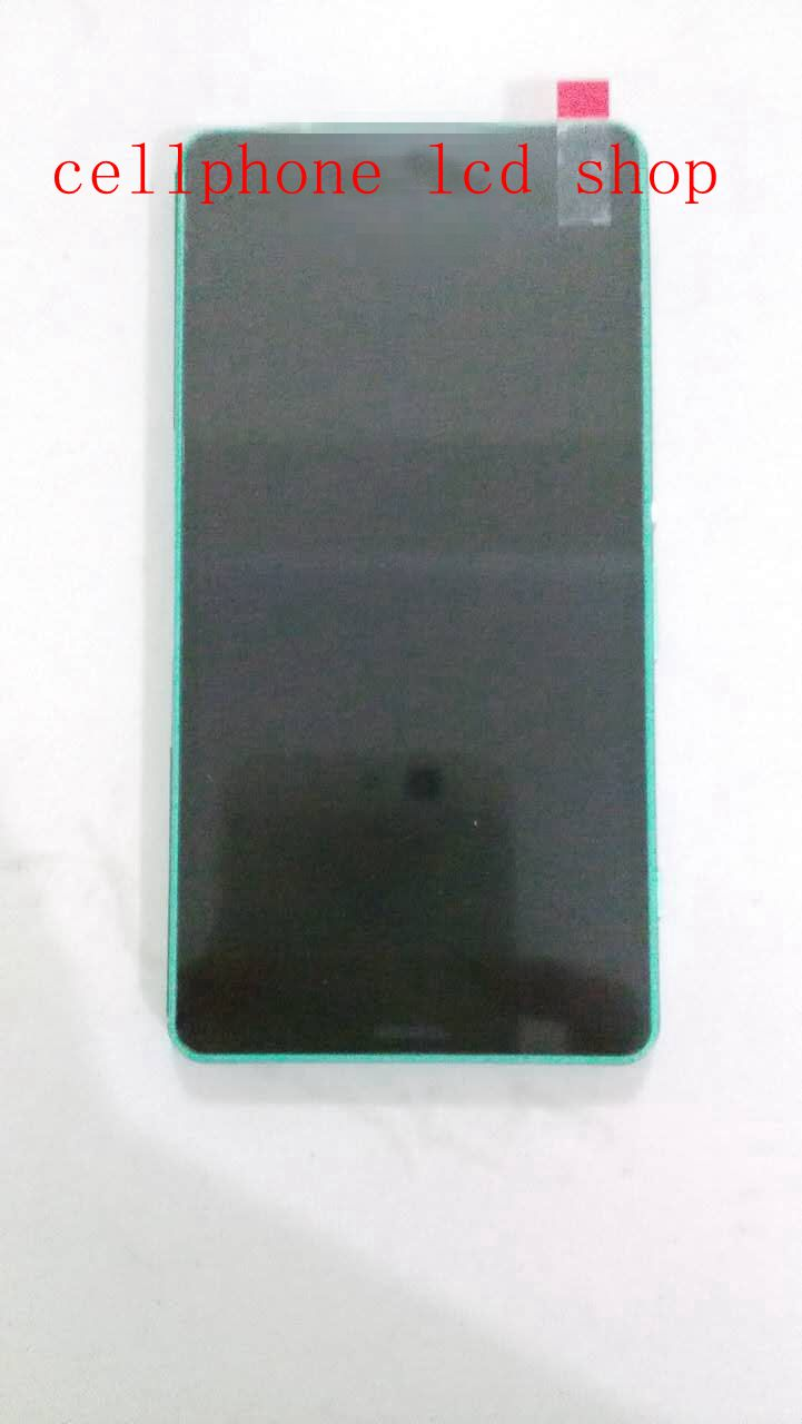LCD Screen For Xperia Z3 mini For Z3 Compact d5803 d5833 M55W displayTouch Digitizer Screen Assembly+Frame Replacement Green<br>