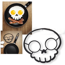 Funny Egg Corral Skull Mould Shaper Silicone Breakfast Pancake Mould For Fry Pan Cooking Tools