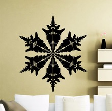 Snowflake Wall Vinyl Sticker Frozen Winter New Year Christmas Decal Home Interior Decoration Family Art Mural