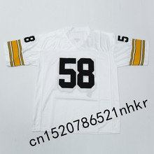 Retro star #58 Jack Lambert Embroidered Name&Number Throwback Football Jersey(China)