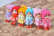 Scarf clown confused doll, mobile phone pendant, small gifts, gifts doll wholesale jewelry wholesale
