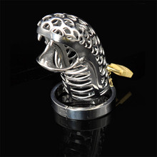 Buy Stainless Steel Snakelike Male Chastity Cage Device Cock Ring Fetish Penis Sleeve Bdsm Bondage Chastity Belt Sex Toys Men