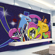 Custom Mural Wallpaper 3D Korean Style Cartoon Graffiti Children's Room Bedroom Non-woven Wallpaper Living Room Wall Decor Paper(China)