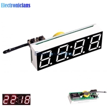 Red 3 In 1 LED DS3231SN Digital Clock Temperature Voltage Module DIY Time/Thermometer/Voltmeter DC 5-30V(China)