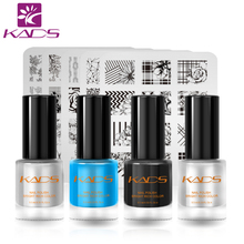KADS New 9.5ml Professional Nail Polish SET 5PCS Nail Stamp +4PCS Nail Polish Two In One Stamping Polish Nail Art Lacquer