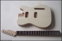 First-class Unfinished electric guitar body with neck