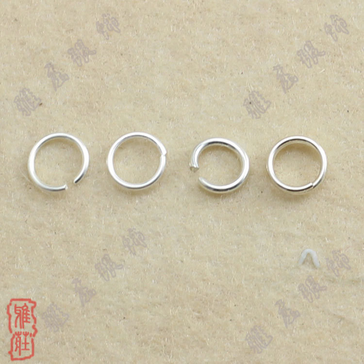 500PCS 3-9MM Make Jewelry Findings 925 Sterling Silver Plate Opening Jump Rings