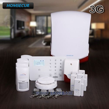 HOMSECUR Wireless&wired WCDMA-3G/GSM Home Security Alarm System +IOS/Android APP(China)